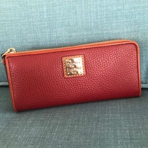 Dooney Continental Zip Clutch Wallet